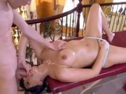 Hot Vixen Mercedes Carrera Worships Delivery Boys Cock