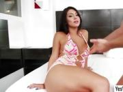 Blonde transgirl Tifanny Taillon gets fucked from behind