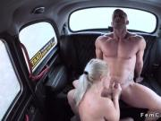 Natural busty blonde cab driver fucking