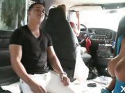 Enjoying car sex with a hot dude