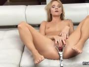 Nasty czech girl opens up her tight vagina to the unusual
