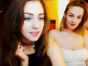 Two sexy girls use vibrator