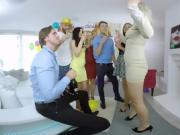A massive VR orgy with hot pornstars Nikky, Vanessa, Lucia...