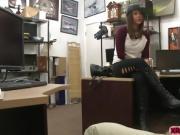 Felicity Feline hot doggystyle sex in the office
