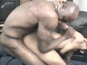 Kinky Black Ebony Babe Gets Her Tight Ass Drilled