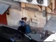 OmaFotzE Amateur Grandma Sex in the Back Alleyway