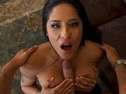 Brunette wife pov and facial