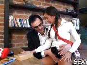 Mind-blowing doggystyle fucking with horny old teacher