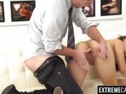 Cute ebony Jamie Marleigh hammered hard with a big cock