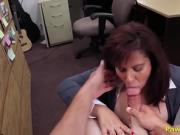 Busty Milf Customer Reluctantly Sucks & Fucks Cock For Cash