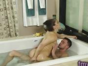 Cute milf bathtub fuck