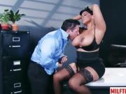 Latin milf sex with cum on tits