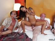 Old black man girl and men fuck hard Staycation with a Latin