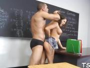The most thrilling detention for a pretty juicy schoolgirl