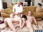 Old dude banging naughty hottie