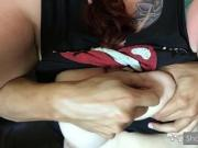 Whore getting her tits slapped and squeezed