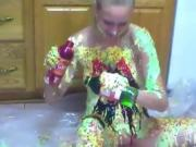 Teen Emily Plays With Food And It Hot