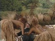 Two Tribal Men Share A Big-breasted White Girl