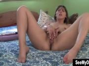 Gorgeous Brunette Babe Teases Her Pussy On Cam