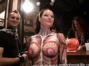 Body Painted Hotties in public