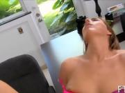 Sensual lady reaches bright orgasms