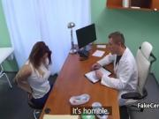 Doctor banging horny big tits babe