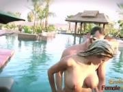 Hot Blonde Melissa Loves To Tease And Fuck In Pool