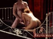 Bent over rough anal turns her tight tiny vag into his