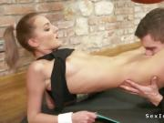Blonde caught sucking dick at the gym