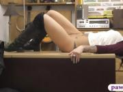 Lovely babe railed by nasty pawn keeper at the pawnshop