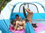 Best Friends Share A Dick In A Tent