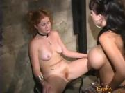 Lovely ginger hussy has her wet pussy licked and penetrated