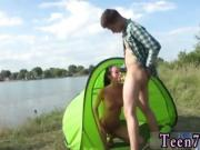 Real hairy teen Eveline getting fucked on camping site