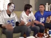 Wife fucks one of his best friends during a football game