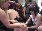 Slave on leash humiliated in public