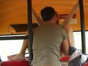 Cute Brunette 18 Year Old Teen Girl Having Sex In Schoolbus