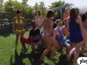 Swingers having fun with one another doing nasty games