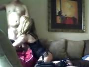 Blonde whore gets double-teamed