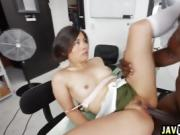 Interracial fucking with petite Asian