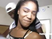 19 Yr. Queen Blue fucks BBC TrojanMan in the hood