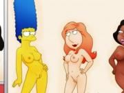 Famous toons girls parody orgy