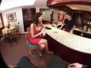 VR Bangers-AUGUST AMES GIVE A WORLD CLASS BLOWJOB AT THE BAR