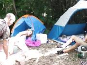 These couples have a great time on their camping trip