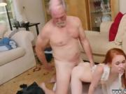 Petite Dolly Little fucked from behind by old man