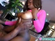 Doggy style fucking with hot big titted ebony whore