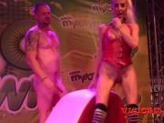 mature Yelena Vera live porn show on stage FEDA 2016
