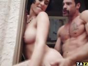 Charles Dera fucks Olive Grass pussy on top