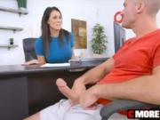 MILF Reagan Foxx sucks and pleasea very big penis for jizz