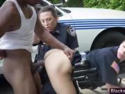 Female cops get cunts pleasured outside