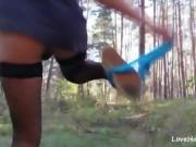 Cowgirl Fuck With Girlfriend In The Woods